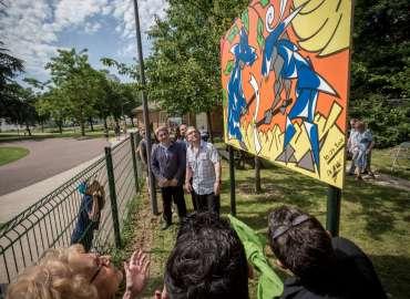 Inauguration de la fresque des jardins partagés, Ris-Orangis