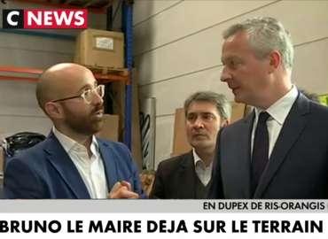 Premier déplacement officiel du nouveau ministre de de l'Economie chez Mistral Coolers à Ris-Orangis