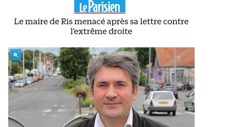 Stéphane Raffalli menacé suite à la publication de sa lettre contre l'extrême droite
