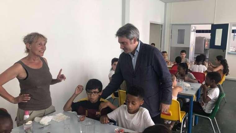 Visite de l'école Orangis