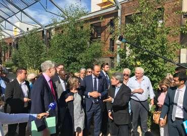 La visite du Premier Ministre Edouard Phillippe ce matin a Ris-Orangis