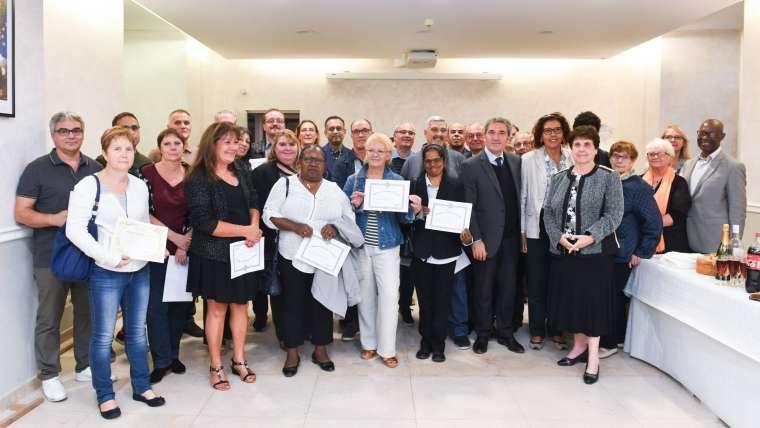Remise de diplômes de médailles d'honneur à Ris-Orangis