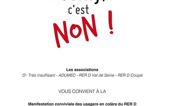 Manifestation RER D : Non au terminus obligatoire à Juvisy !