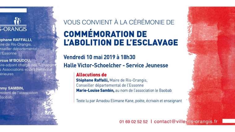 Intervention de Stéphane Raffalli lors de la cérémonie de commémoration de l'abolition de l'esclavage