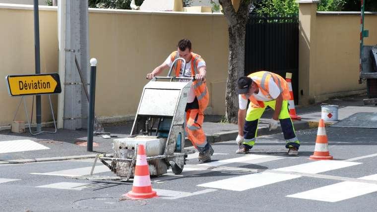 Rénovation des passages piétons à Ris-Orangis