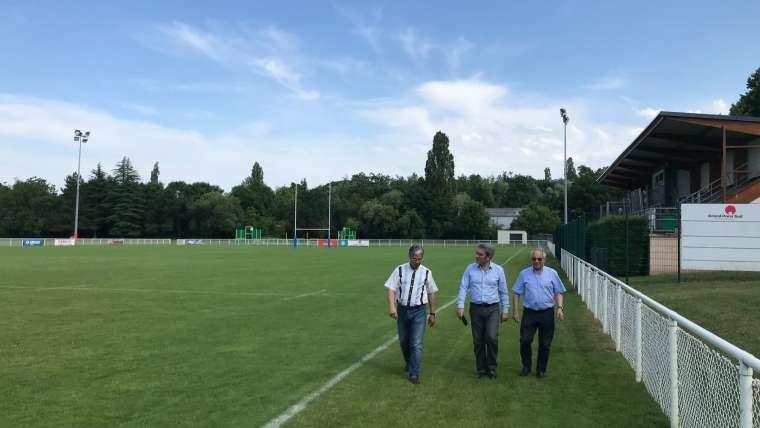 Fin de travaux de rénovation de la tribune et des vestiaires du stade Roger-Latruberce