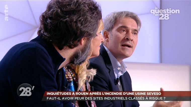 """[Vidéo] Stéphane Raffalli invité de l'émission """"28 Minutes"""" sur ARTE pour débattre des sites à hauts risques après l'incendie de l'usine Lubrizol"""