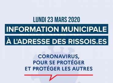 Information municipale à l'adresse des Rissois.es