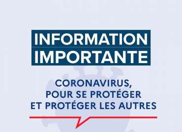 Covid-19 : Information importante