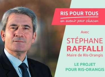 Programme de Ris Pour Tous avec Stéphane Raffalli : les projets pour Ris-Orangis
