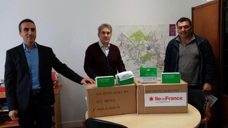 Ville de Ris-Orangis : Réception de 5 000 masques de protection de la Région Île-de-France