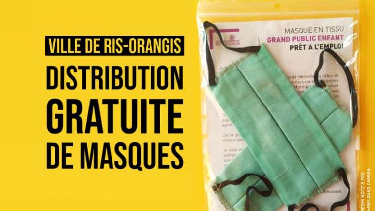 Covid-19 : Distribution gratuite de masques à Ris-Orangis