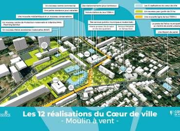 Ris-Orangis : 2 RDV pour discuter et découvrir les 12 projets qui restructureront notre futur Coeur de ville