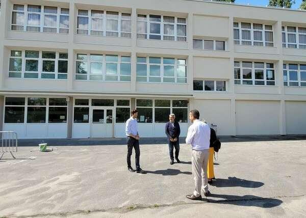 Visite des travaux d'été dans nos 14 écoles