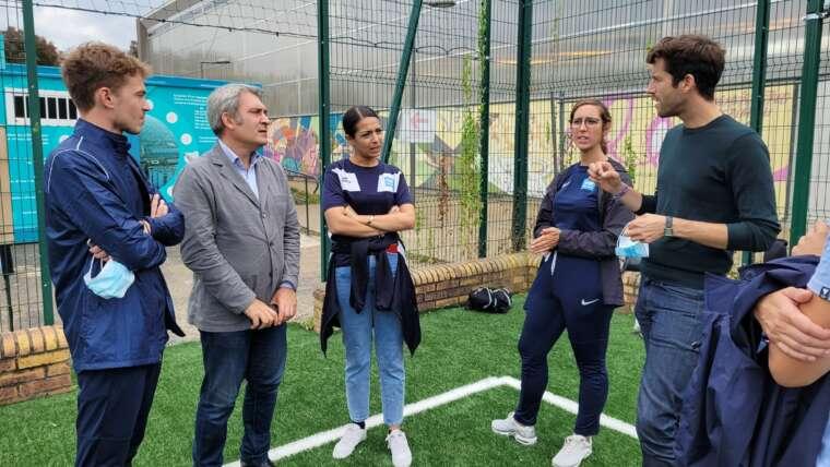 Ris-Orangis : Lancement des activités sportives sur le city stade flambant neuf